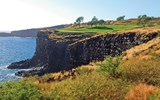 Manele Golf Course, a five-minute drive from the Manele oceanfront resort, features one of Hawaii's most picturesque holes: the par-3 12th. The setting was the site of Bill Gates wedding in 1994 and r