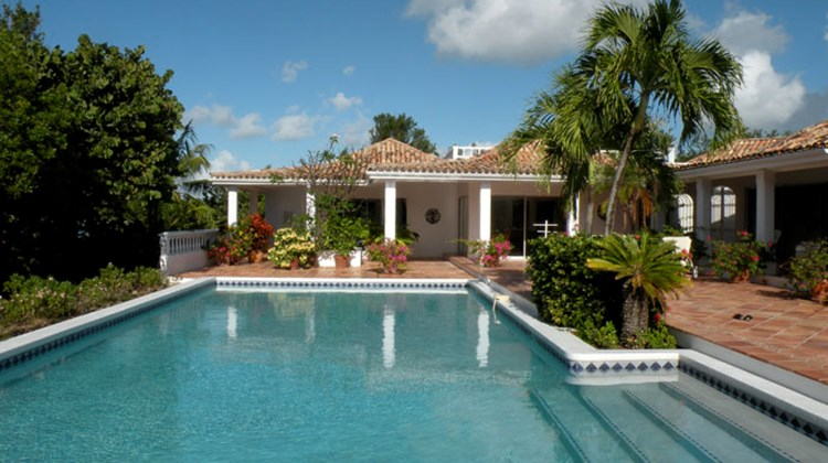 Travel Weekly Editor at Large Johanna Jainchill earlier this year spent a week at two Caribbean villas, named Day-O, in St. Martin, and Exclusivity, in Anguilla. The following slideshow will spotlight Day-O first, then Exclusivity, finishing off with a few others in St. Martin. Pictured here, the three-bedroom Day-O villa and its pool area. Photos by Johanna Jainchill; posted Feb. 21, 2012