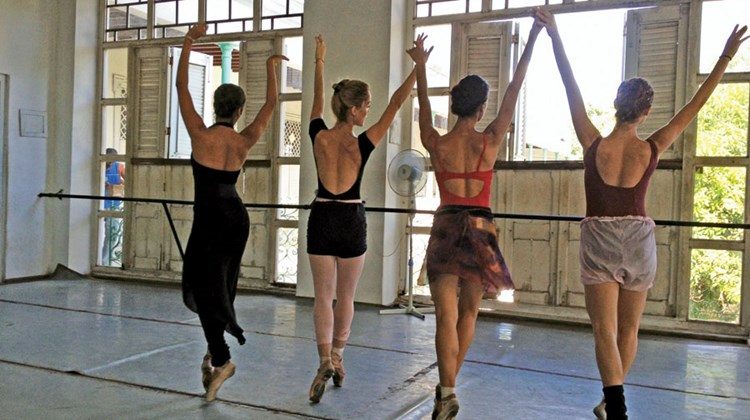 Ballerinas at the Pro Danza dance company in Havana. Unless otherwise note, photos are by Gay Nagle Myers; posted Nov. 5, 2013