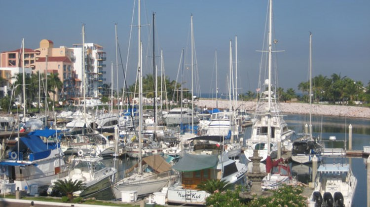 The marina area at El Cid Marina Hotel, one of four El Cid properties in Mazatlan.