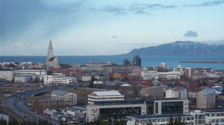 Reykjavik, as seen from the top of the Perlan building.