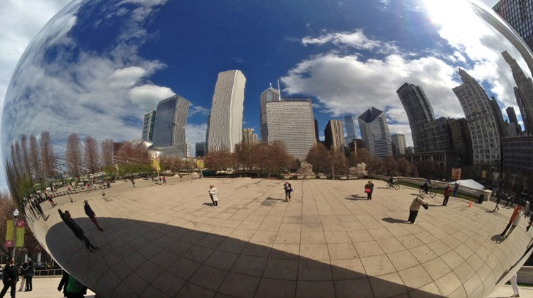 Sights to see in Chicago before the train journey include Cloud Gate, also called the Bean, artist Anish Kapoor's smooth, 110-ton silver-drop sculpture.