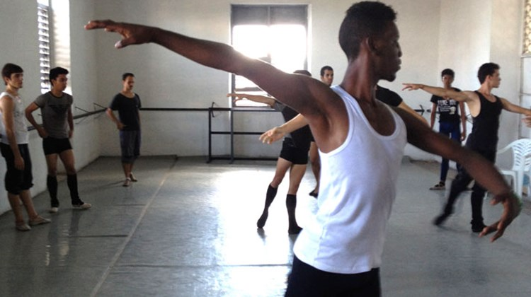 Members of the Pro Danza dance company in Havana rehearse several hours a day each day.