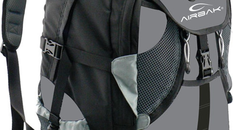 Airbak. This line of backpacks is perfect for long-distance travel and walking tours alike, asthe Airbak's inflatable system can be adjusted to any degree of comfort and lumbar support.