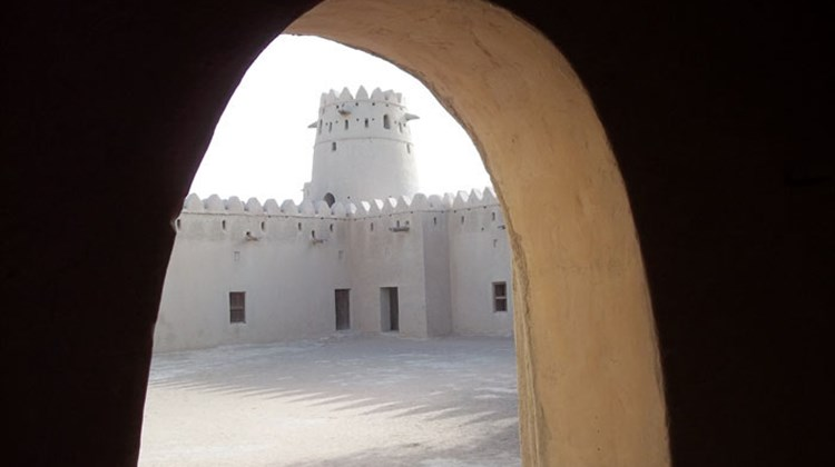 The restored historical Jahili Fort near Al Ain is one of Abu Dhabi's oldest fortified structures.