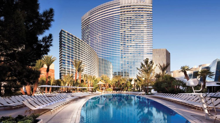 The Aria's resort pool.