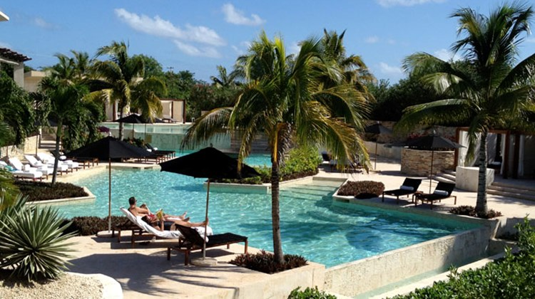The main pool at Rosewood Mayakoba.