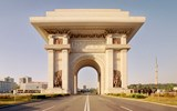 Pyongyang's Arch of Triumph which commemorates the liberation of the Korean Peninsula from Japanese rule.