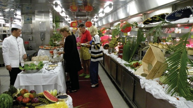 The Galley Luncheon is an extensive buffet lunch offered once per cruise.