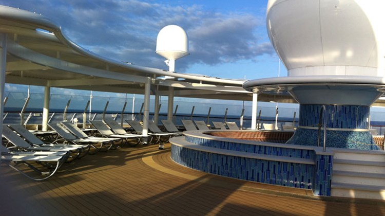 The Satellite Sun Deck aboard the Disney Fantasy is reserved for those 18 and older.