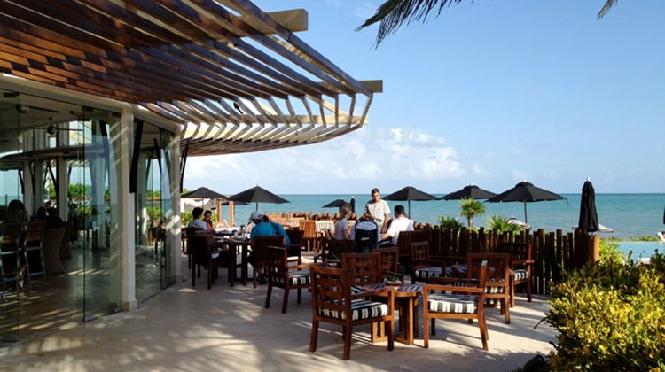 The casual, beachfront eatery Punta Bonita offers lunch and dinner by the sea.