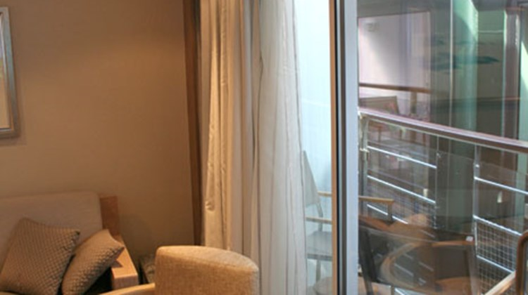 The balcony off the Veranda suite's living room.