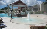 The misting pool at Sandals Royal Bahamian provides cool relief on hot days.