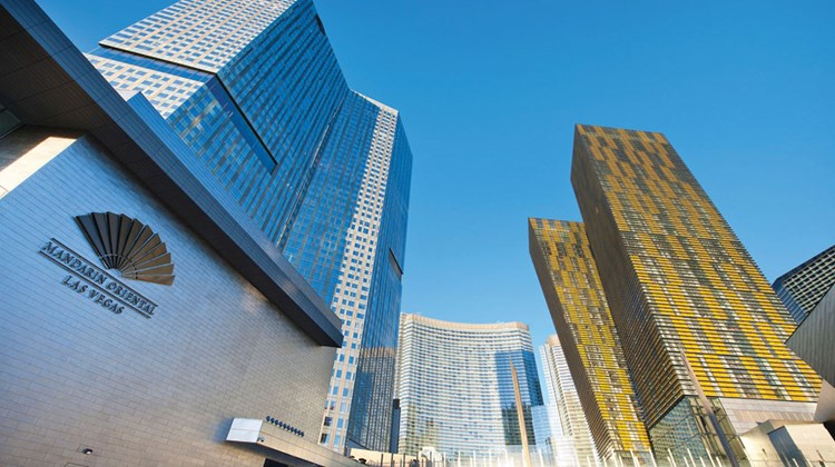 CityCenter's luxury accommodations include the Mandarin Oriental Las Vegas, which has 392 guestrooms as well as 225 high-end residential units.