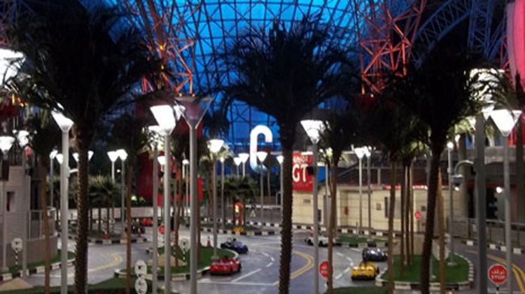 Auto-themed Ferrari World is the world's largest indoor theme park, measuring some 2.2 million square feet.