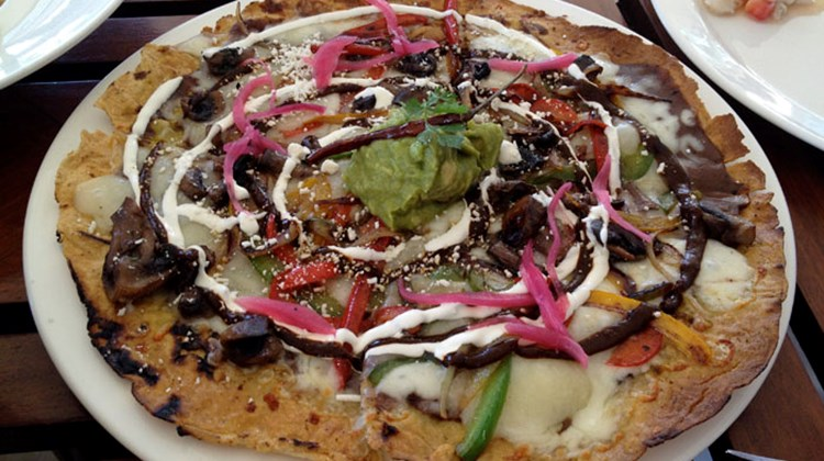 "Punta Bonita's creative Mexican menu includes Tlayudas, Oxacan style ""pizza"" made with tortillas."