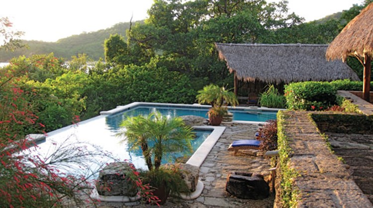 The infinity pool at Morgan's Rock Resort, a 15-bungalow, luxury ecoresort near San Juan del Sur.