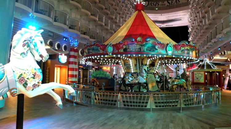 The carousel on the Oasis of the Seas.