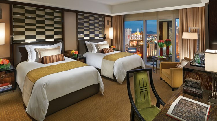 Pictured here, a Cityscape double room at the Mandarin Oriental Las Vegas.