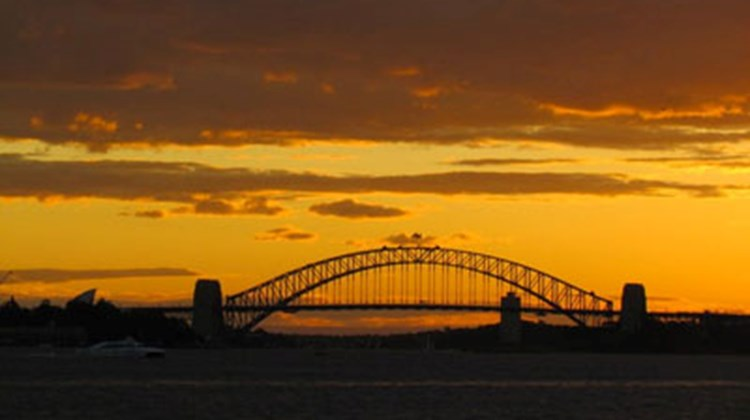 """Sunset in Sydney -- Harbour Bridge"""