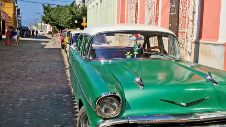 Cars from the '50s continue to be a staple of Cuban roads and transport.