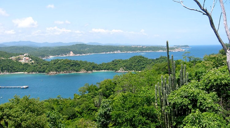 The bays surrounding Huatulco on Mexico's west coast.