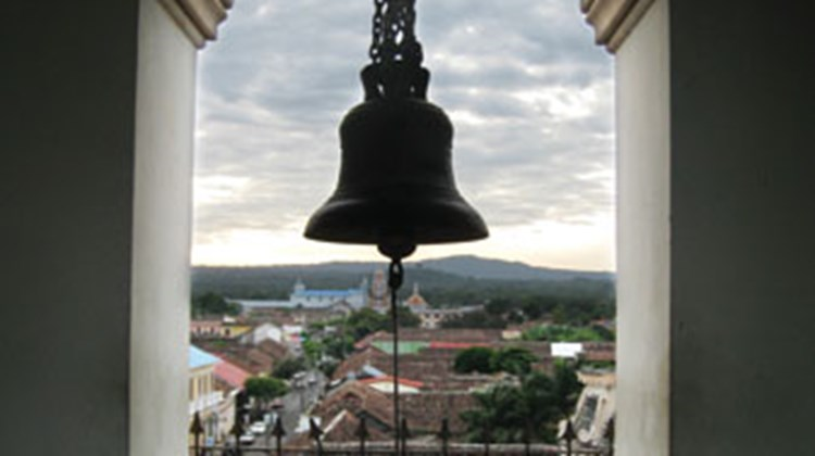 A view of the Granada skyline from the bell tower at La Merced Church.