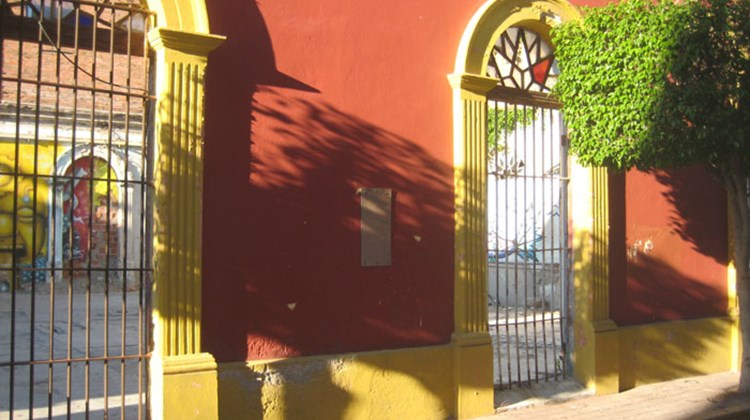 Colorful, old buildings line the streets of Mazatlan in the city's historic center.