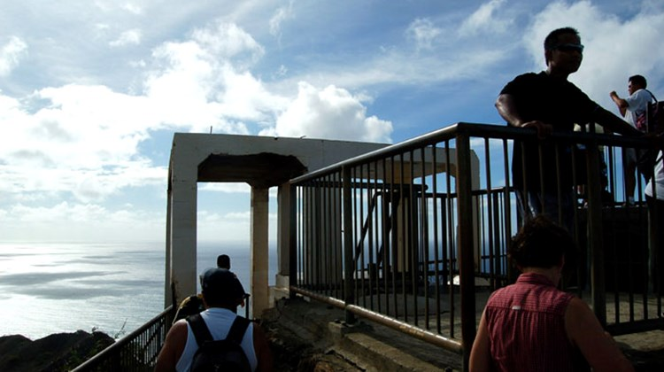 The viewing platform at the top of Diamondhead.