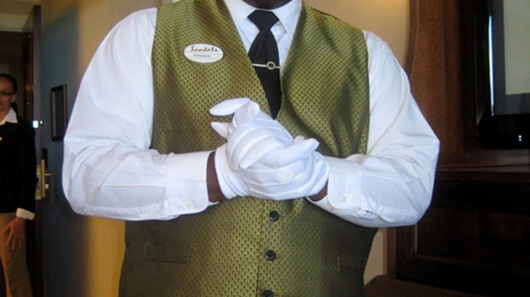 Vincent is one of the 93 professionally trained butlers at Sandals Royal Bahamian.