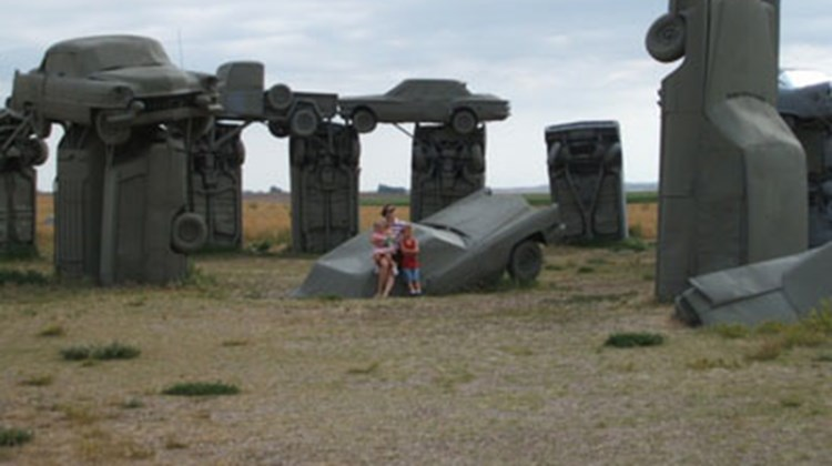 """'Car Henge' in Alliance, Neb."""