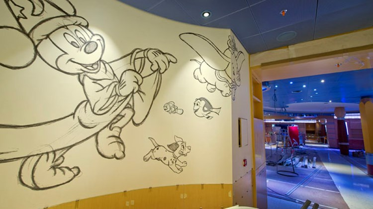 At the Fantasy's Animator's Palate restaurant, a new, interactive feature involves giving diners placemats to draw on, which become part of an animated show.