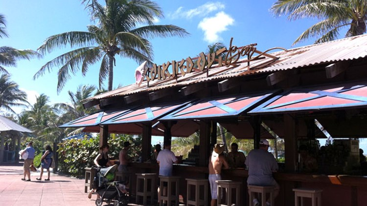 Castaway Cay has several bars and dining areas, plus souvenir shops and water activities.