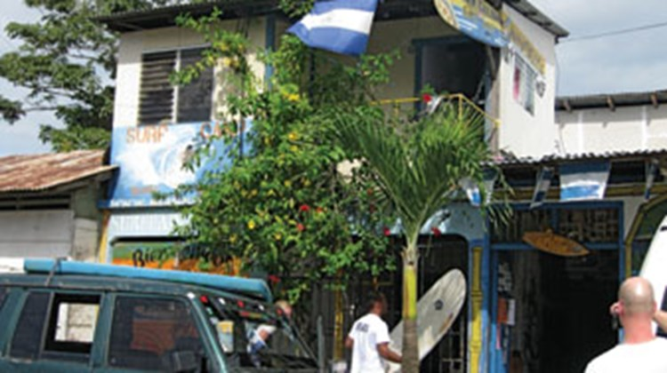 A surf shop in San Juan del Sur.