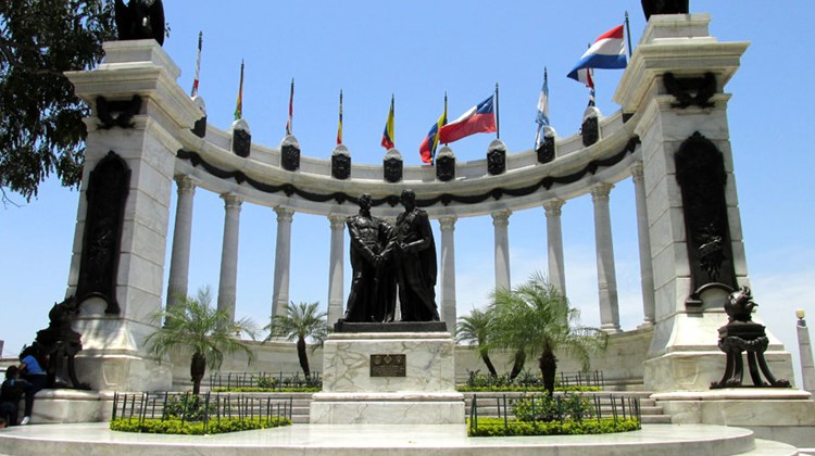 The rotunda on the Malecon 2000 marks the spot where Jose de San Martin and Simon Bolivar are said to have met in July 1822 to discuss the fight for independence from Spain.