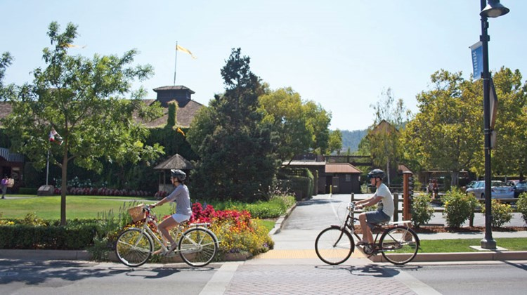In the city of Yountville in Napa Valley, it was business as usual on Monday.