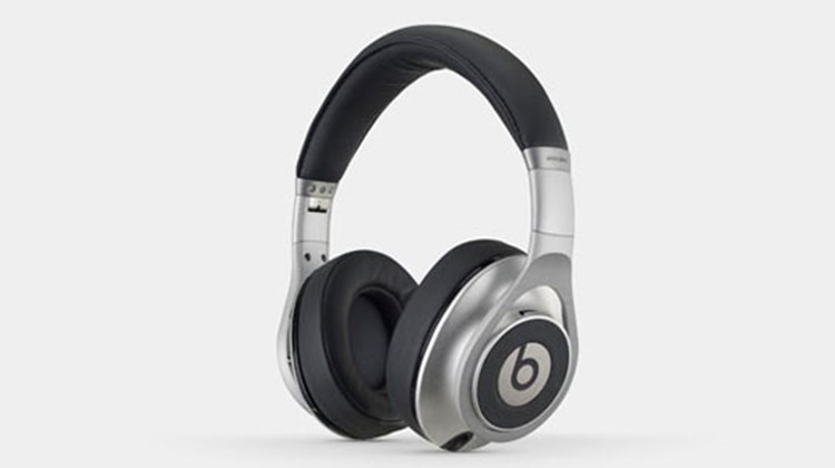 The Beats Executive model, marketed by rapper Dr. Dre, features active noise cancellation, a sleek aluminum body and soft leather ear cushions while delivering high-end sound. They are lightweight, fold flat and are comfortable for long-distance airline travel. Each set comes with two AA batteries, 3.5mm audio cable, airline adapter plug, remote microphone and a hard-shell carrying case.