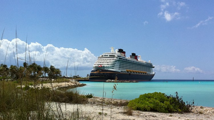 The Disney Fantasy docks at Disney's private island, Castaway Cay, so passengers don't have to tender to the island.