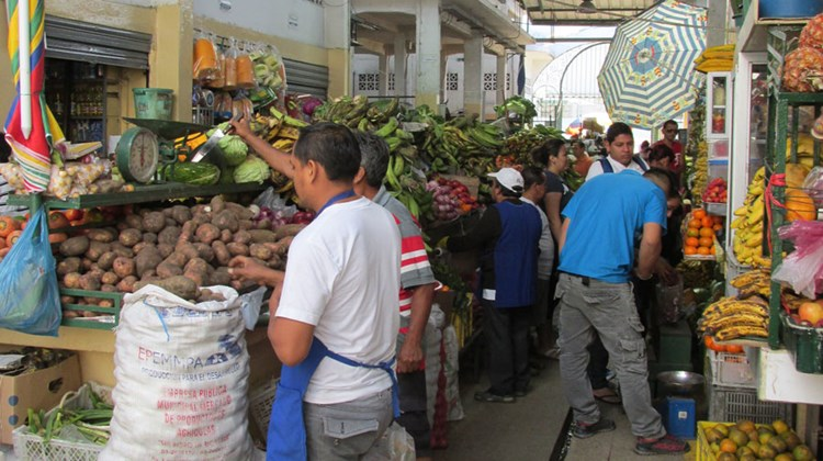 Sunday morning at the Mercado Norte in Guayaquil. Ecuador is among the world's top producers of bananas.