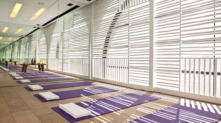 Yoga at Mamilla's Wellbeing Center.