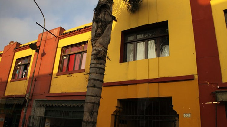 Colorful housing seen in Lima's bohemian Barranco neighborhood.