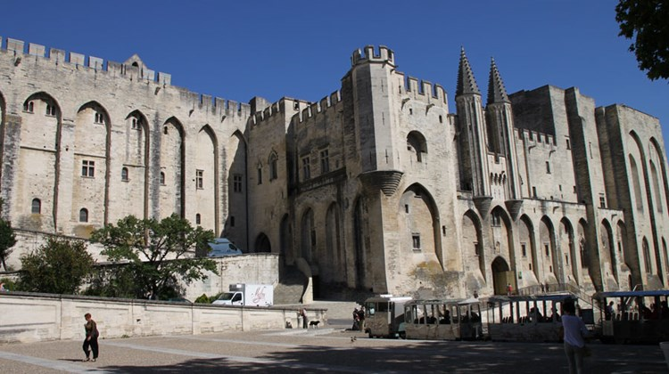 The 14th century papal palace in Avignon, saved from the depredations of 18th century French revolutionaries because it was too big and difficult to knock down.