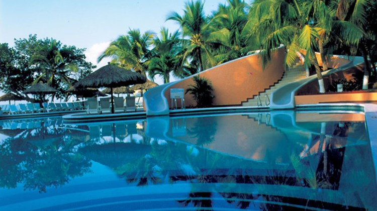 The pool area at AMResorts' Sunscape Dorado Pacifico Ixtapa (formerly the Dorado Pacifico Ixtapa), which opens Nov. 1.