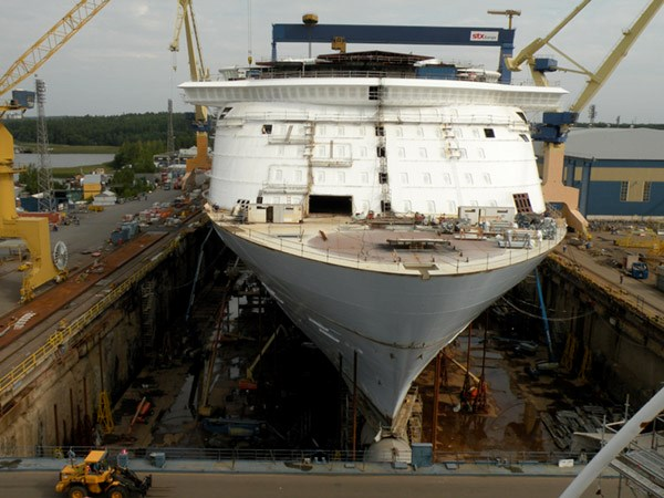 Royal Caribbean's Oasis of the Seas: Travel Weekly Oasis Of The Seas Construction