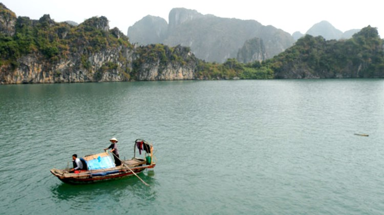 One of Vietnam's most popular destinations, Halong Bay.