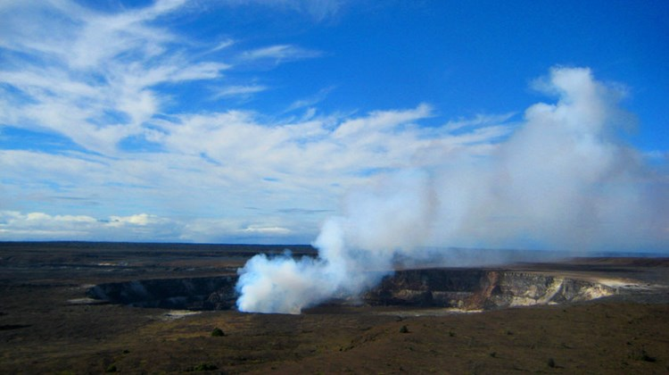 Park visitors can enjoy a much closer look at the Halemaumau Crater eruption from the Jaggar Museum overlook, a five-minute drive from Volcano House. The active Halemaumau vent first opened in March of 2008.
