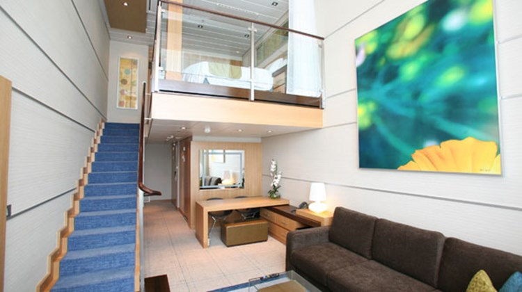 A loft suite cabin on the Oasis of the Seas is one of 37 cabin categories on the Oasis.