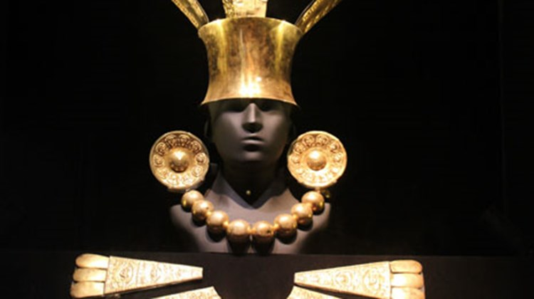 Gold exhibited in Lima's Larco Museum.