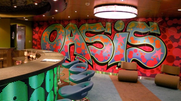 The teen club area on the Oasis of the Seas.