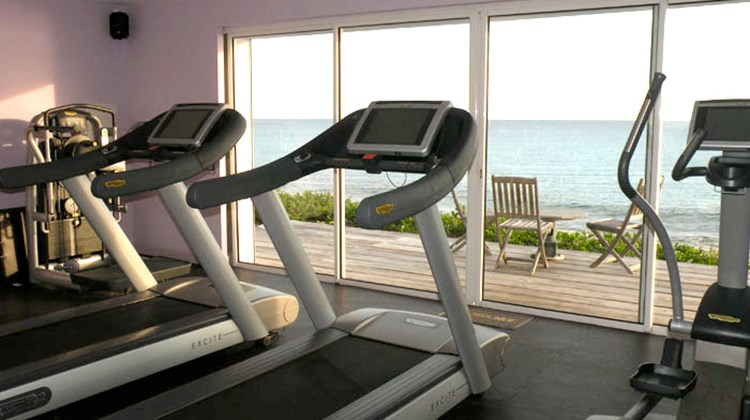 Many villas, like the five-bedroom Eden in St. Martin, come with private gyms.